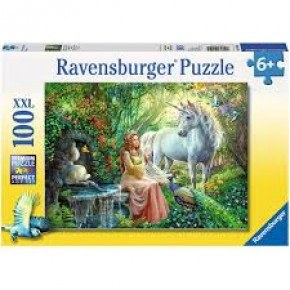 Ravensburger -  Princess and Unicorn (100 pcs) Puslespil