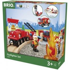 BRIO World - Togsæt med Brandmandstema - 33815