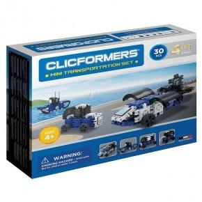 Clicformers Mini Transportation 30 set - Konstruktionssæt