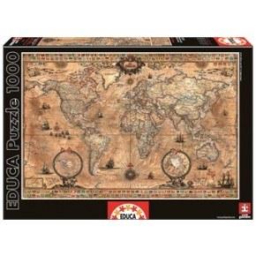 Educa - Antique World Map (1000 pcs)
