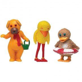 DR Bamse, Kylling og Ælling 5-7 cm. Plastfigur
