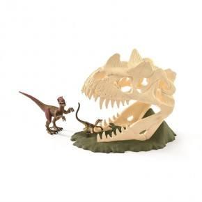 Schleich - Stort kranie med 3 dinosaurer