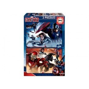 Educa - Captain America: Civil War (2 x 100 pcs)