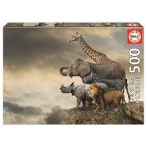 Educa - Animals on the Edge of a Cliff (500 pcs)