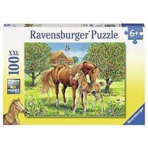 Ravensburger -  Horses in the Field (100 pcs) Puslespil