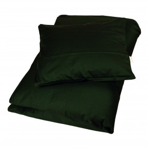 Filibabba sateen juniorsengetøj 100x140 cm - dark green