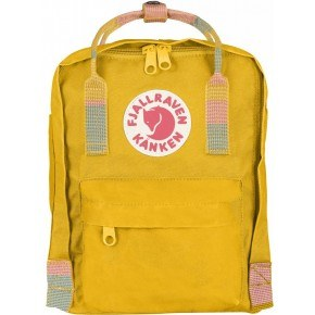 Fjällräven Mini Kånken Rygsæk - Warm Yellow-Random Block