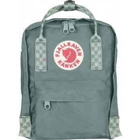 Fjällräven Mini Kånken Rygsæk - Frost Green-Chess Pattern