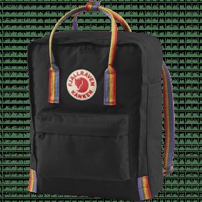 Fjällräven Kånken Rainbow rygsæk - Black/Rainbow