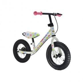 Kiddimoto Løbecykel Junior Max Super - Pastel Dotty