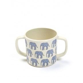 Smallstuff Kop med elefantprint - Denim