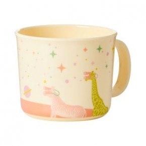Rice Babykop i melamin - pink univers print.
