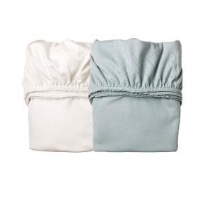 Leander Lagen til vugge - Misty Blue/Hvid