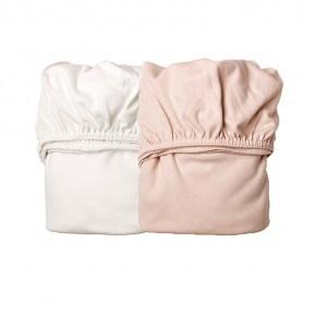 Leander Lagen til vugge - Soft Pink/Hvid