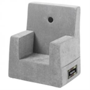By Klip Klap Kids Chair - Argent Grey Velour
