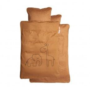 Done by Deer Dreamy dots junior sengetøj - sennepsgul