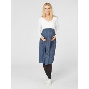 Mamalicious midi nederdel - orion blue