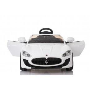 Ride Ons Maserati Gran Turismo - Hvid - Med fjernbetjening