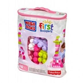Fisher Price Mega Blocks - 60 stk (pink)