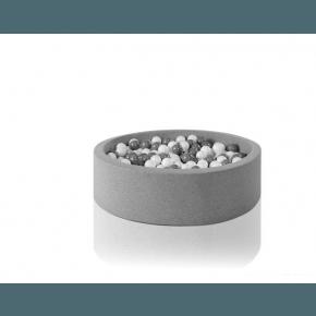 MISIOO Boldbassin rund 100 x 50 - Light grey