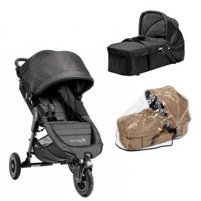 Baby Jogger City Mini GT  - Charcoal Denim + Kompakt Pram og Regnslag til Pram