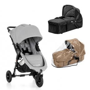 Baby Jogger City Mini GT - Slate + Kompakt Pram og Regnslag til Pram