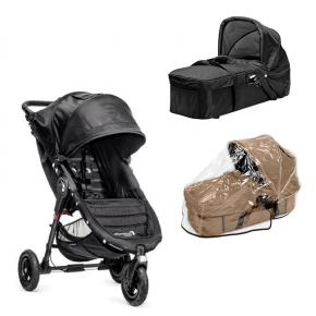 Baby Jogger City Mini GT - Sort + Kompakt Pram og Regnslag til Pram