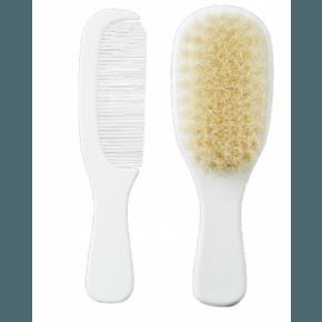 Kam og børste sæt - hvid (0 år)