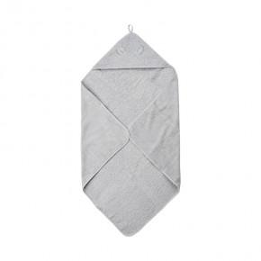 Pippi Organic håndklæde med hætte 83x83 cm. - Harbor Mist