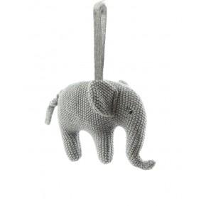 Smallstuff musikuro, elefant - Grå/sølv Uro