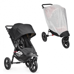 Baby Jogger City Elite Single Sort + Insektnet