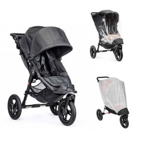 Baby Joggy City Elite Charcoal Denim + Regnslag og Insektnet