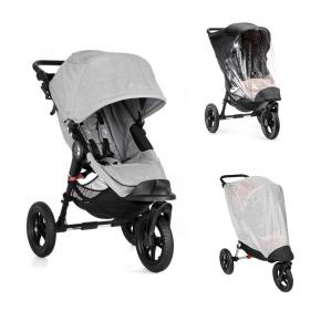 Baby Jogger City Elite Single - Slate + Regnslag og Insektnet