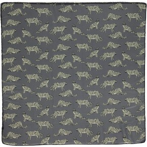 Småfolk Legemadras Lille - Steel Grey Leopard