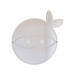 Maseliving - Ninja maske spejl (hvid)