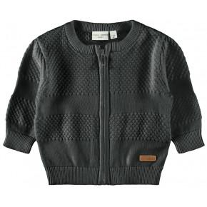 Name it strik cardigan - dark grey melange