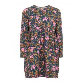 Name It kjole med blomser - Dark Sapphire