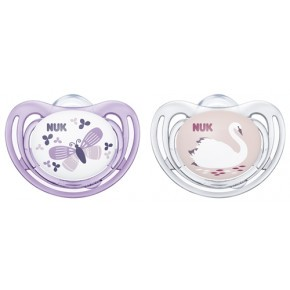 NUK Freestyle sutter 2-pak 6-8 mdr. - lillac/rosa