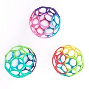 Oball Classic - Pink, lilla & blå (pige) Babylegetøj
