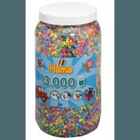 Hama midi perler 13000 stk pastel mix