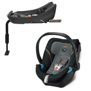 Cybex Aton 5 Autostol inkl. Base 2-Fix - Pepper Black