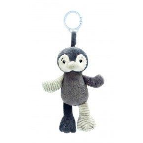 My Teddy - Pingvin clip on, grå