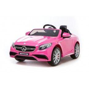 Ride ons Mercedes S63 - Pink - Med fjernbetjening