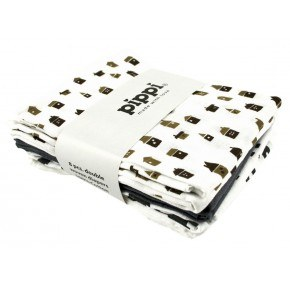 Hvid printet 8-Pak 70X70 Stofbleer - Pippi