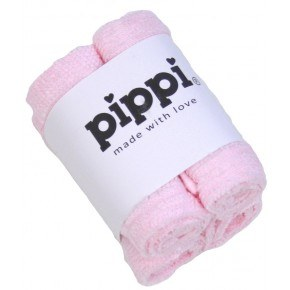 Lightrose 4-pak vaskeklude - Pippi