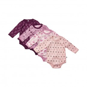 Pippi Bodystockings 4-pak - Lilac