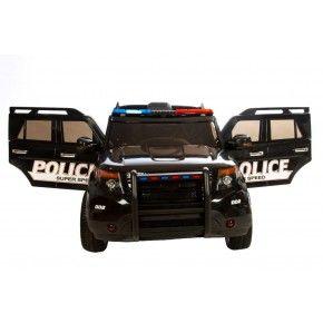 Ride ons Azeno Politi SUV - Sort - Med fjernbetjening