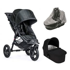 Baby Jogger City Elite - Titanium + Sort Deluxe Pram og Regnslag til Pram