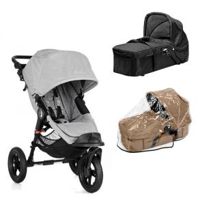 Baby Jogger City Elite - Slate + Kompakt Pram og Regnslag til Pram