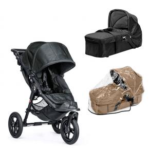 Baby Jogger City Elite - Titanium + Kompakt Pram og Regnslag til Pram